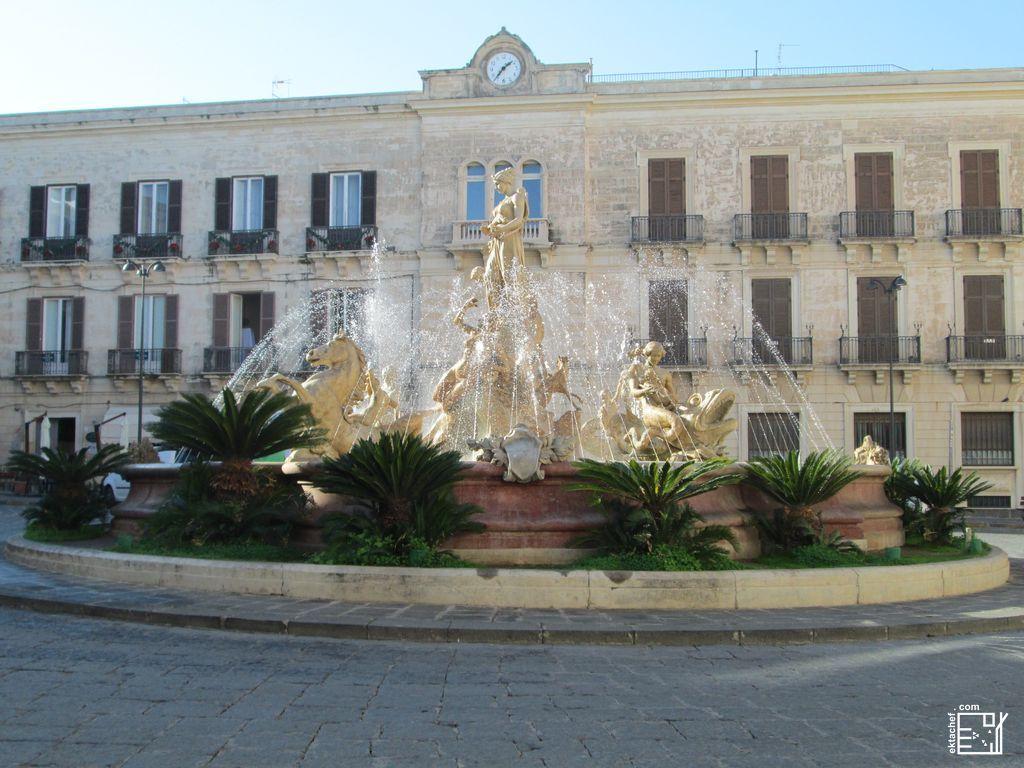 Sicily - Syracuse - Artemis Fountain - atArchimed Square