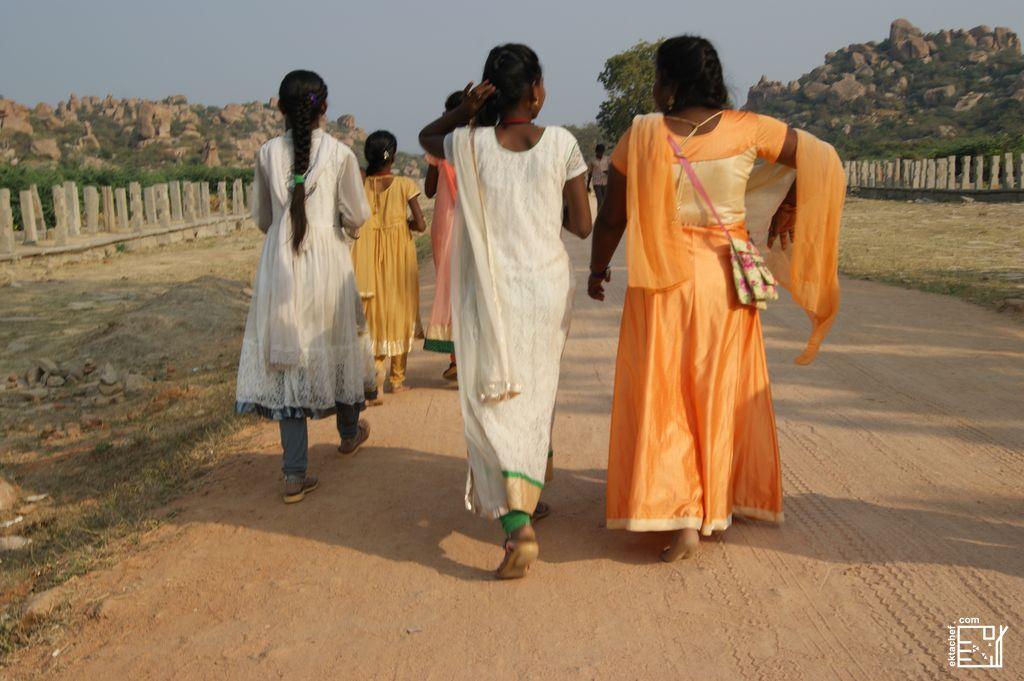 Women Walking India Hampi