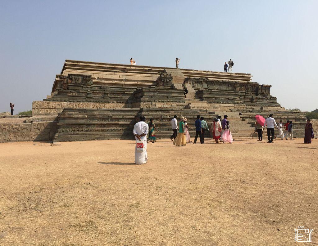 India - Hampi - Royal Enclosure - Mahanavami Dibba
