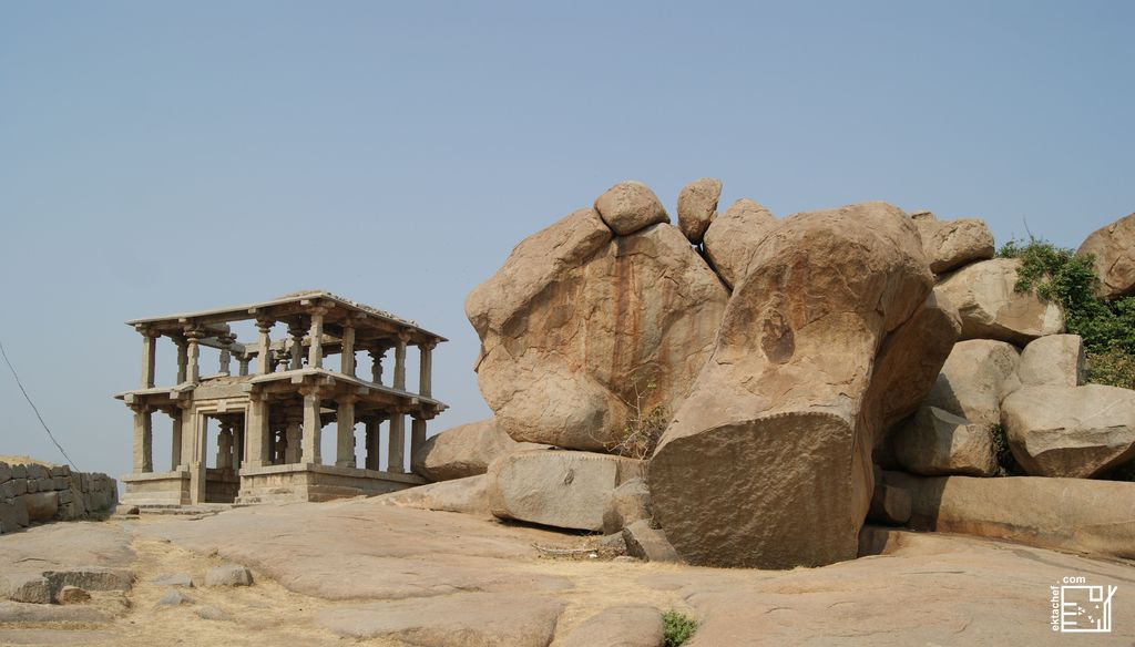 India Hampi Hemakuta Hill Temples